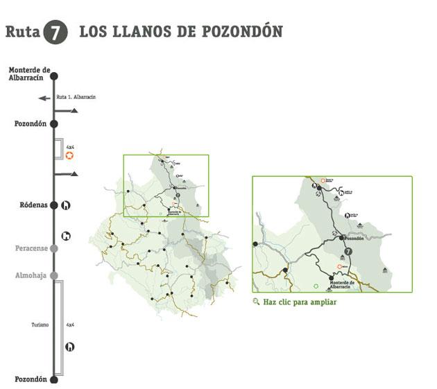 Rutas - Los Llanos de Pozondón